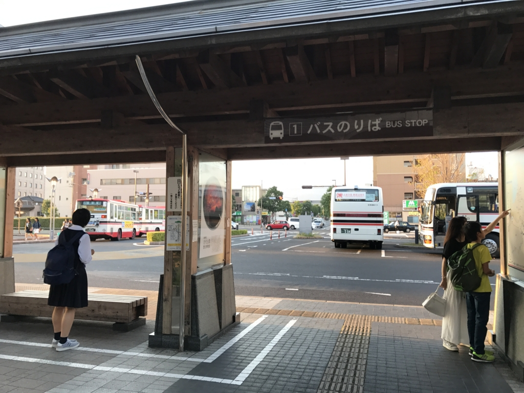 JR出雲市駅 北口バス乗り場①「出雲大社」行き