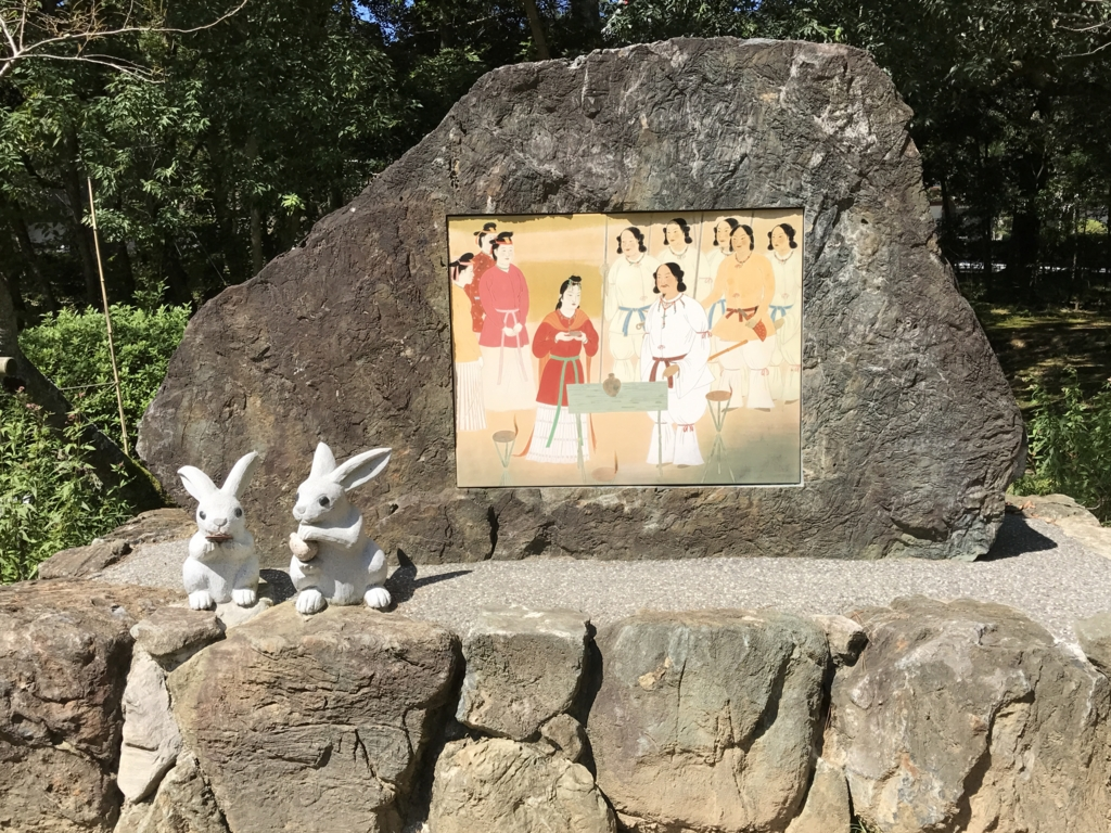「出雲大社」うさぎさん石像