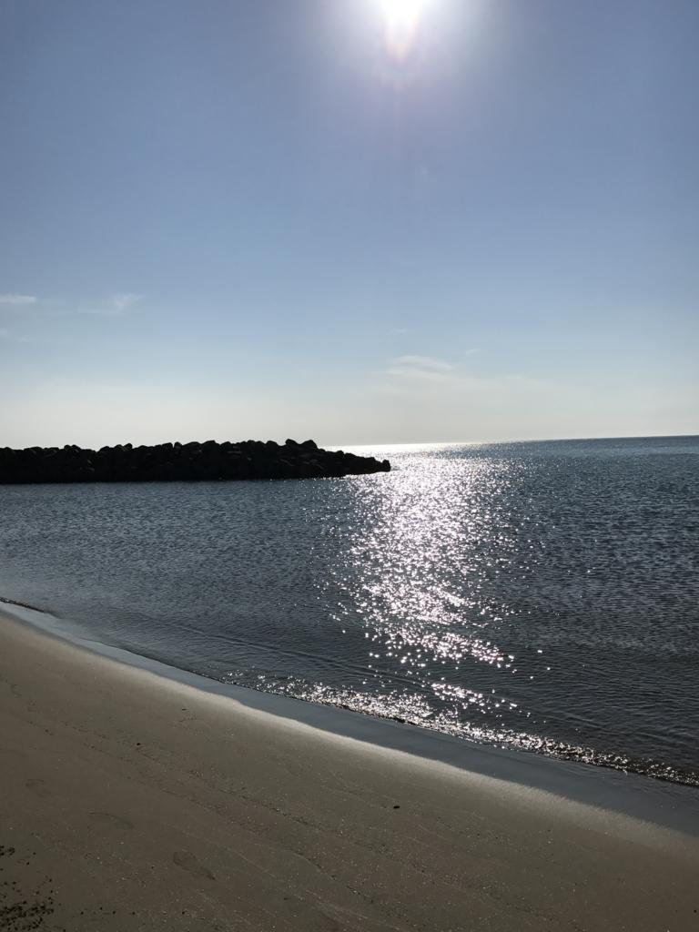 出雲「稲佐の浜」海岸 & 太陽