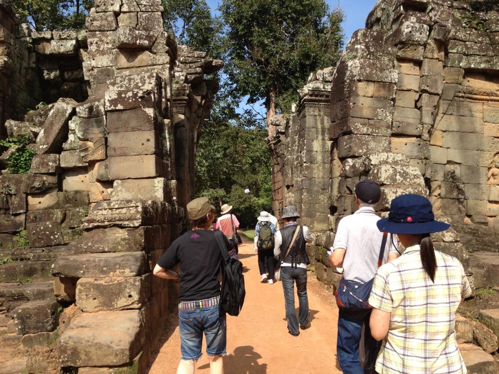 カンボジア シェムリアップ 「タ プローム」遺跡 東門