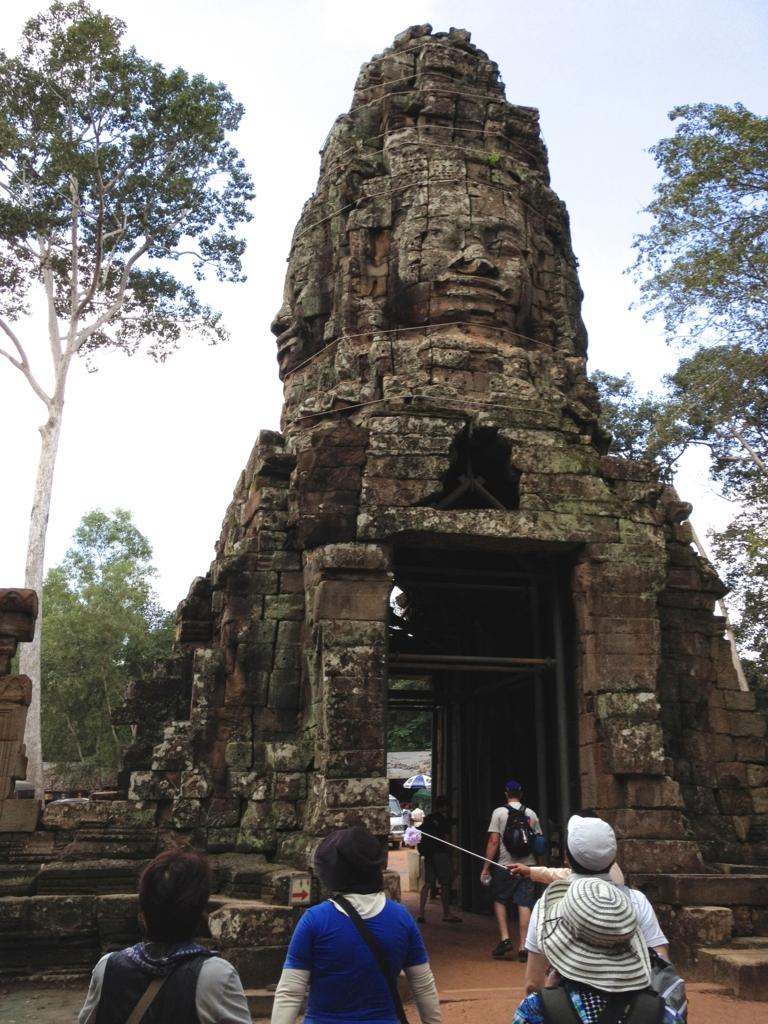 カンボジア シェムリアップ 「タ プローム」遺跡 西門