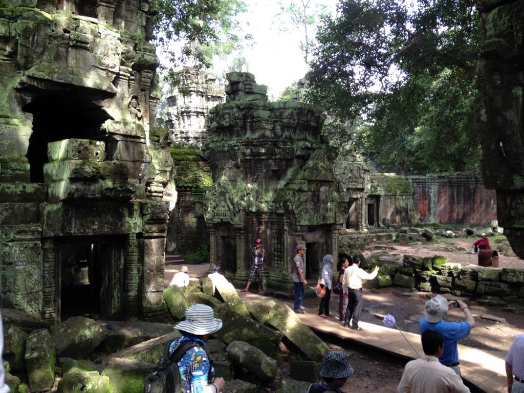 カンボジア シェムリアップ 「タ プローム」遺跡