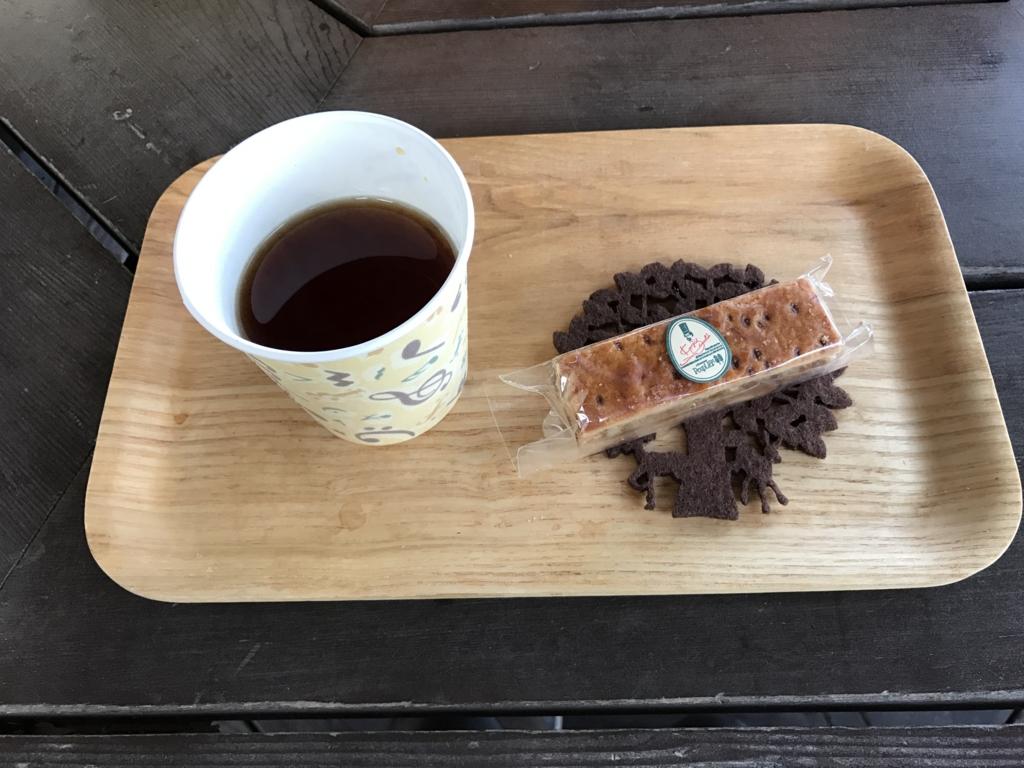 国営武蔵丘陵森林公園 セグウエイツアー 休憩 紅茶とお菓子