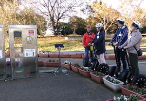 茨城県つくば 公道セグウエイツアー「モビリティロボットの充電ステーション」