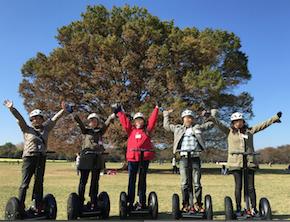 昭和記念公園 セグウエイツアー みんなの広場で記念撮影