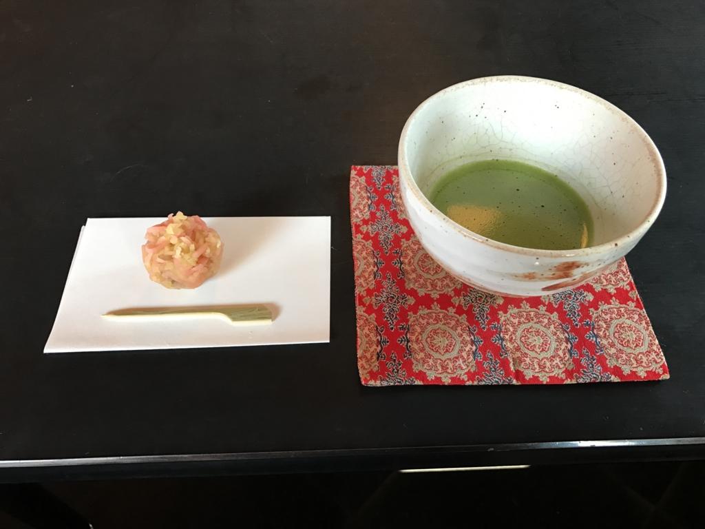 昭和記念公園 セグウエイツアー 休憩 「歓楓亭」 抹茶と和菓子