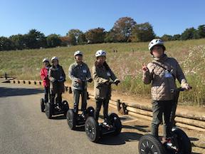 昭和記念公園 セグウエイツアー 帰りは先頭で