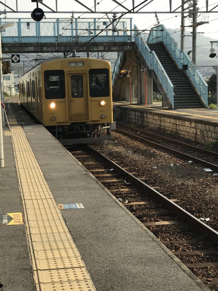 JR忠海駅 呉線 広行き到着
