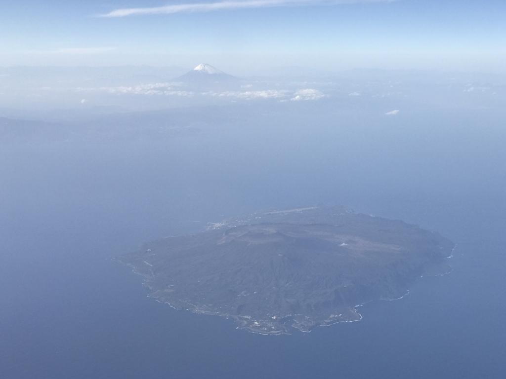 広島空港-羽田空港 ANA 富士山と丸い島