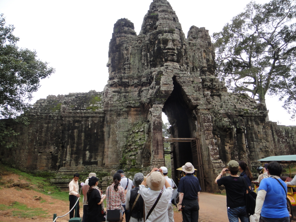 カンボジア シェムリアップ アンコール・トム遺跡 南大門