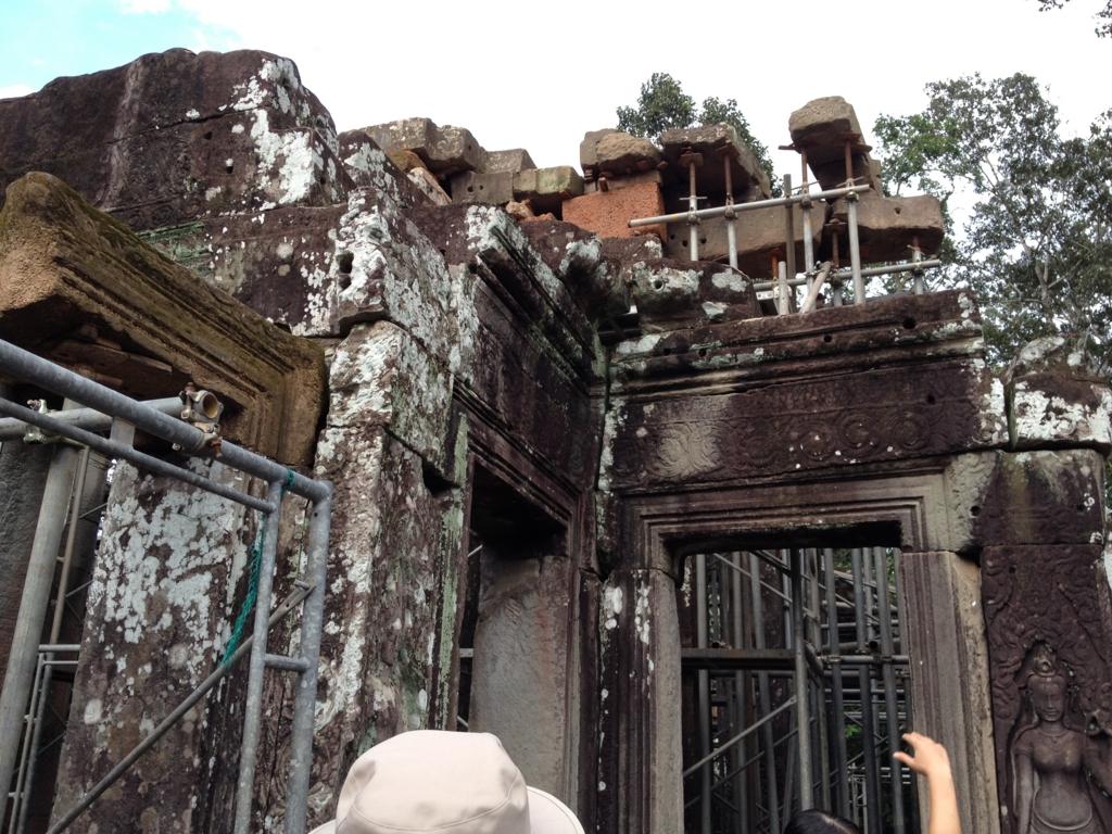 カンボジア シェムリアップ アンコール・トム遺跡 JSA 遺跡修復現場