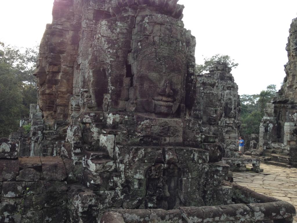 カンボジア シェムリアップ アンコール・トム遺跡 上部テラス