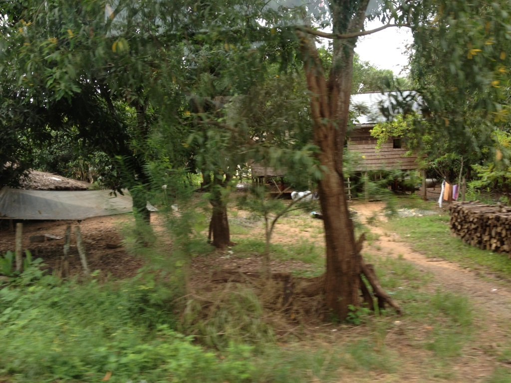 カンボジア「ベンメリア遺跡」へ移動 ベンメリア付近の農村