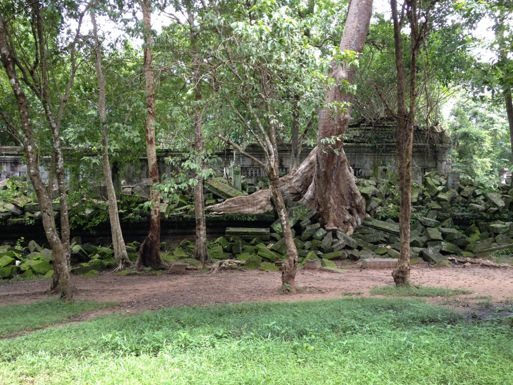 カンボジア「ベンメリア遺跡」南門付近
