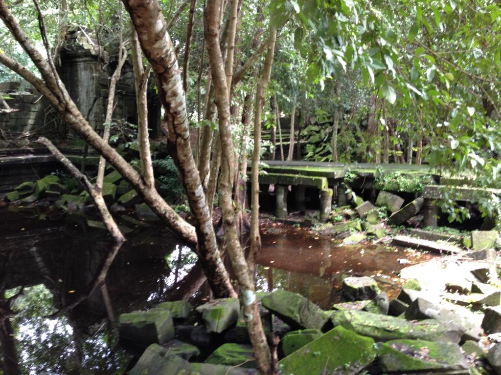 カンボジア「ベンメリア遺跡」いつのまにか遊歩道