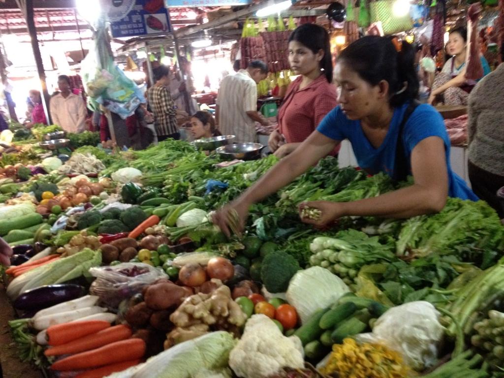 カンボジア シェムリアップ 市場