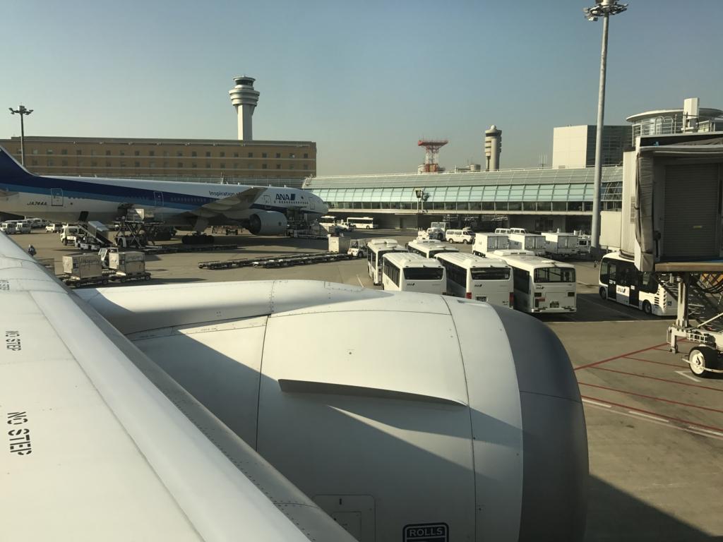 羽田空港から松山空港 ANA585便 乗車