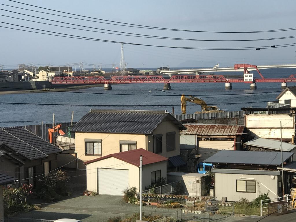 予讃線 観光列車「伊予灘ものがたり」沿線 日本最古の(跳ね上げ式)可動橋