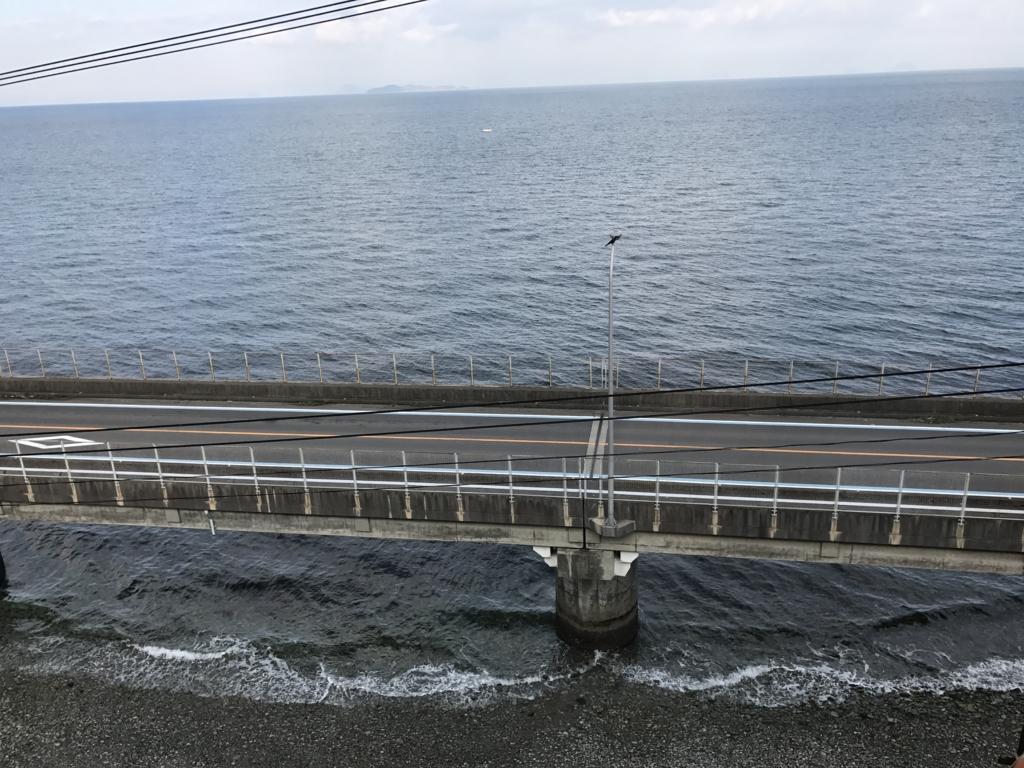 予讃線 観光列車「伊予灘ものがたり」「大洲編」串駅の西側 鉄橋
