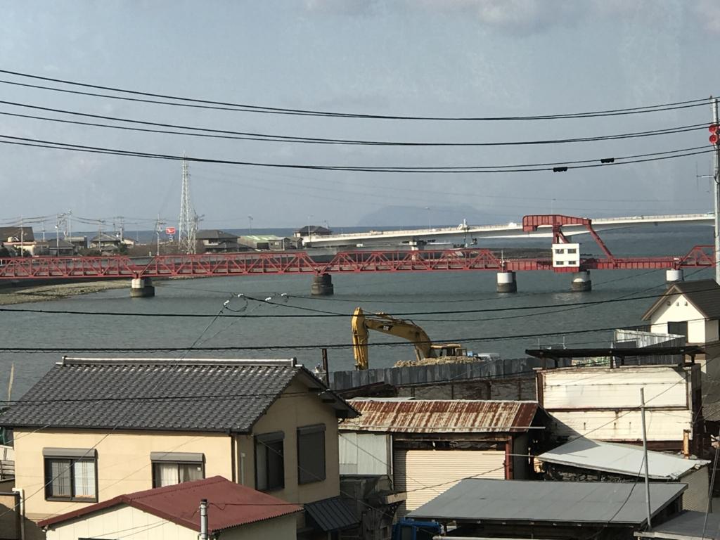 予讃線 観光列車「伊予灘ものがたり」「双海編」沿線 日本最古の(跳ね上げ式)可動橋
