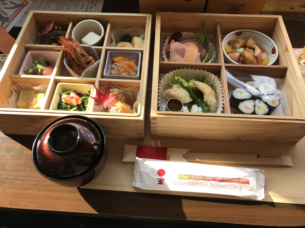 予讃線 観光列車「伊予灘ものがたり」「双海編」食事