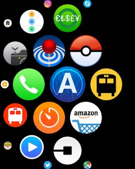 「ポケモンGO(Pokémon GO)」Apple Watch ホーム画面 アイコン