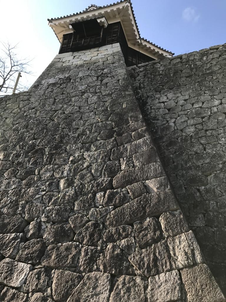 松山城観光 大手門跡付近
