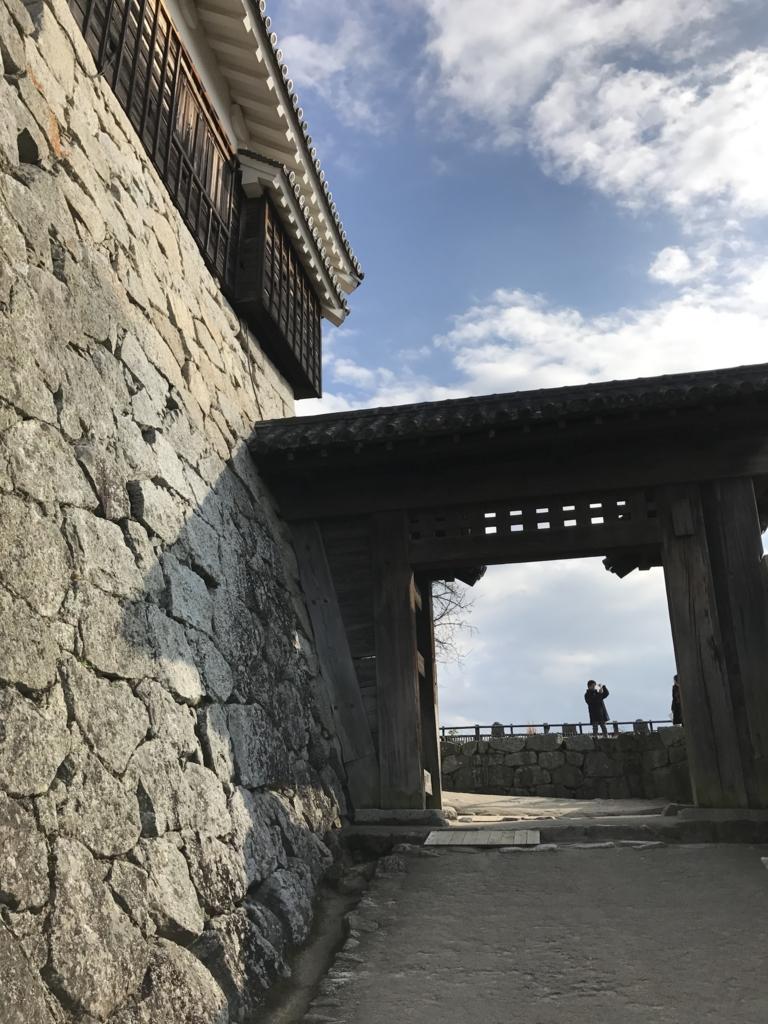 松山城観光 戸無門