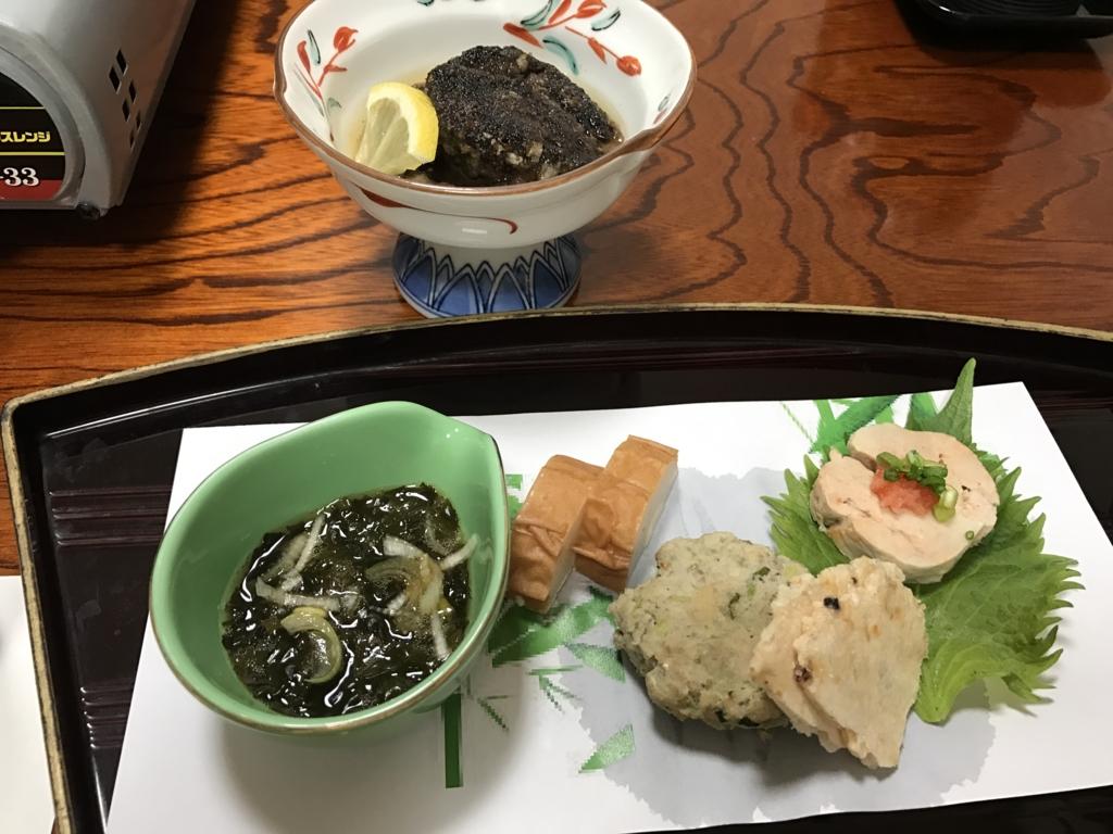 千葉県富津市金谷「天然温泉 海辺の湯」夕食 前菜
