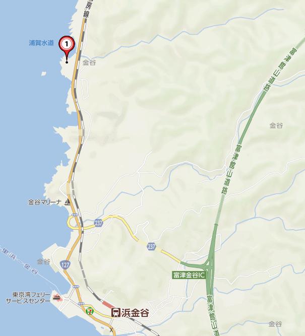 千葉県富津市金谷 「天然温泉 海辺の湯」周辺map