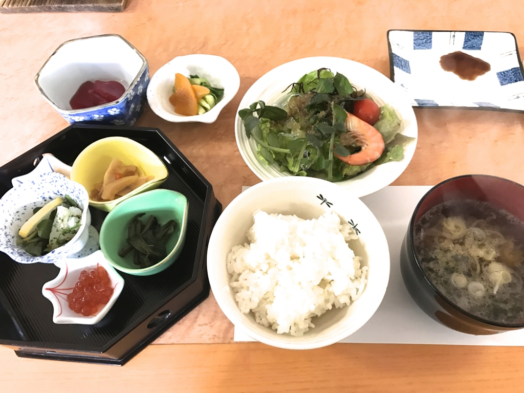 千葉県富津市金谷「天然温泉 海辺の湯」朝食