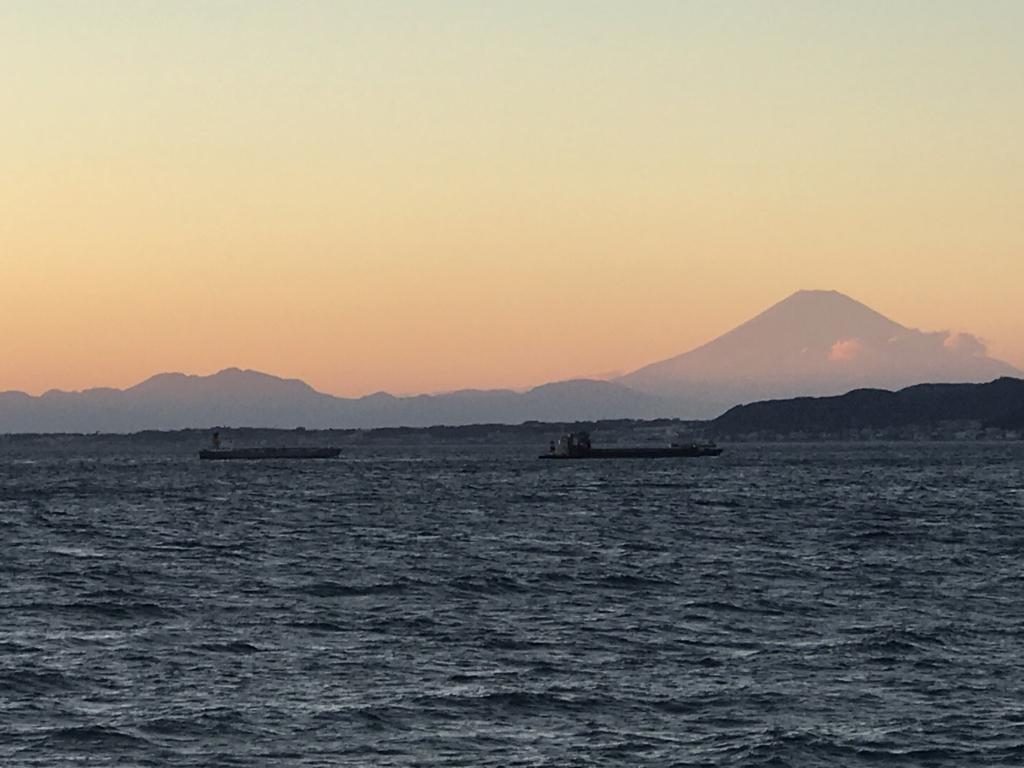 千葉県富津市金谷 「天然温泉 海辺の湯」から富士山