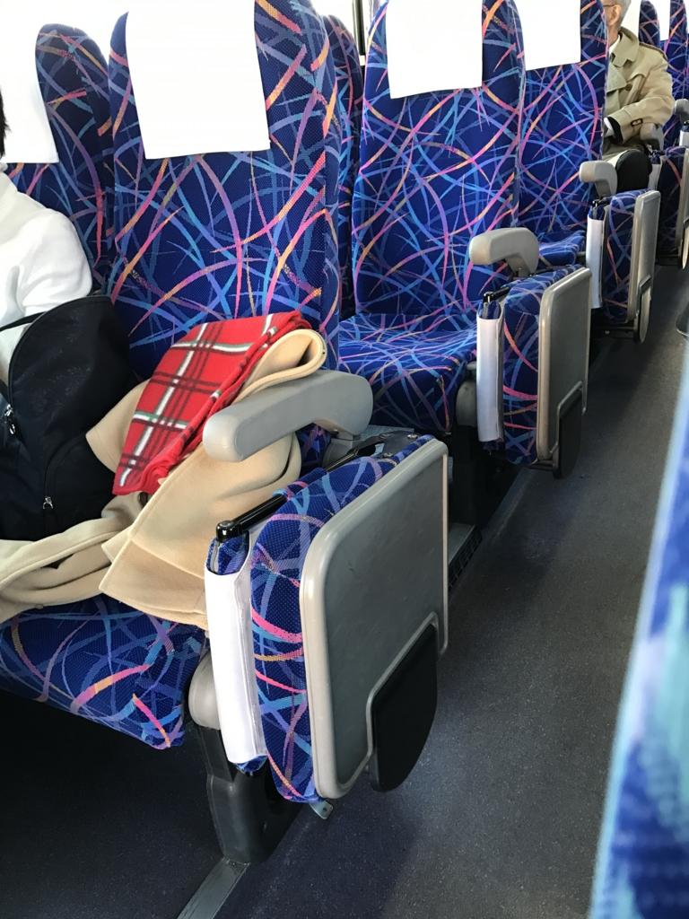 「瀬戸内しまなみ海道」高速バス「キララエクスプレス」座席