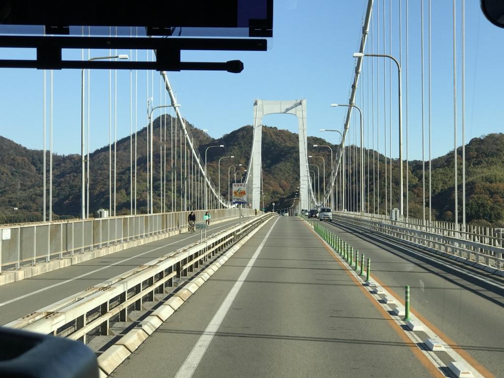 「しまなみ海道」高速バス「キララ エクスプレス」大島大橋 走行中
