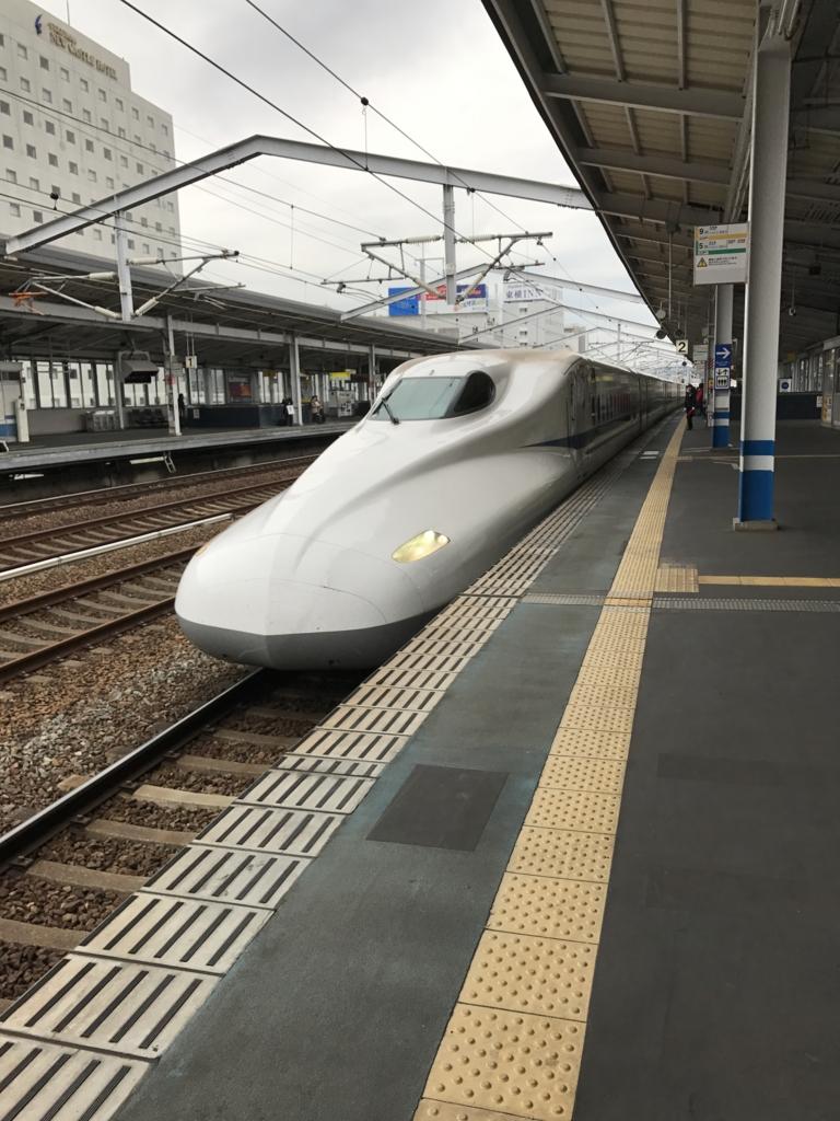 JR福山駅 東京行き 新幹線ホーム のぞみ入線
