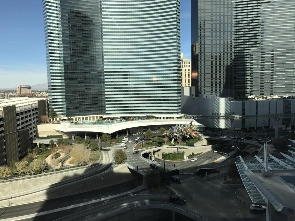ラスベガス 「ARIA リゾート & カジノ」 部屋 からの風景