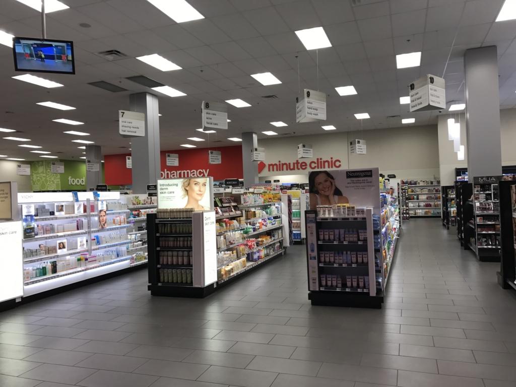 バリーズ・ホテル側 ドラッグストア「CVS pharmacy」日用品売り場