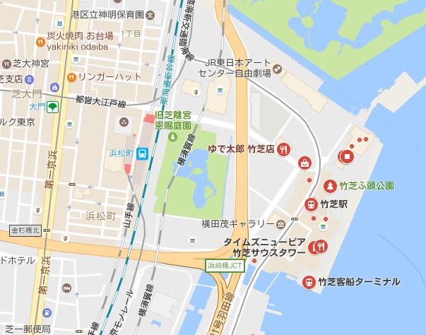竹芝桟橋 周辺MAP