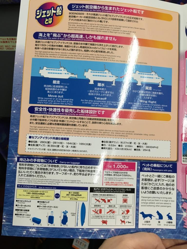 高速ジェット船 セブンアイランド「愛」ジェット船の説明