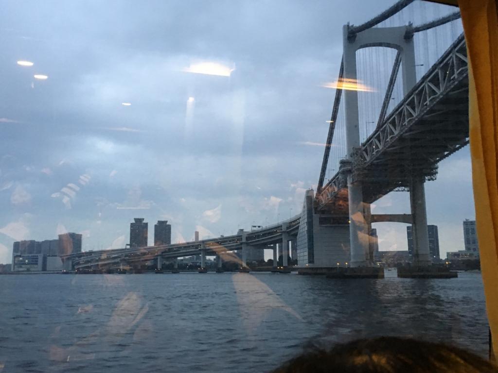 大島-東京 高速ジェット船より 撮影 レインボーブリッジ