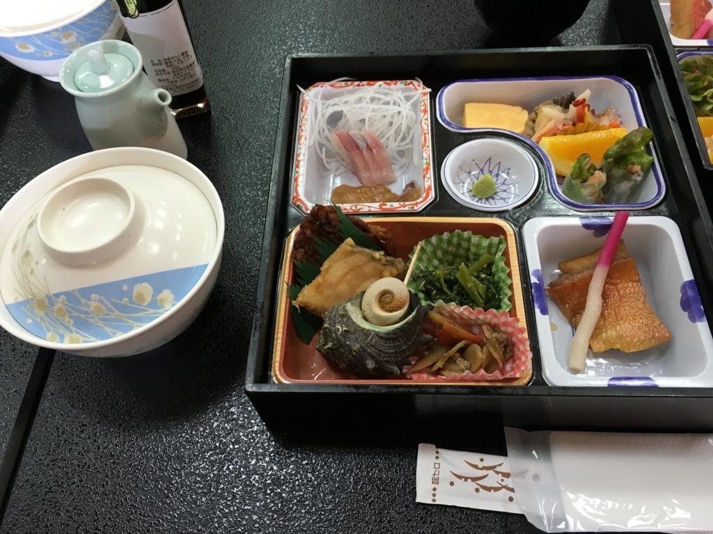 大島温泉ホテル 「金目鯛と名物・べっこう膳」