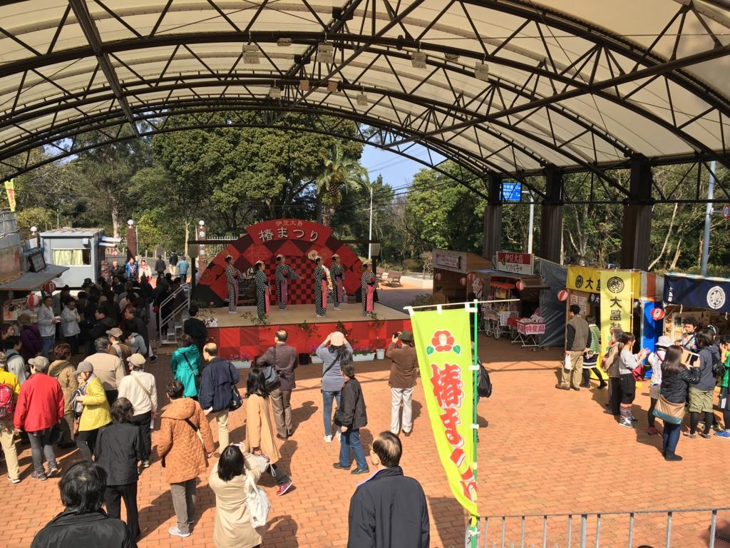 伊豆大島 椿祭り会場