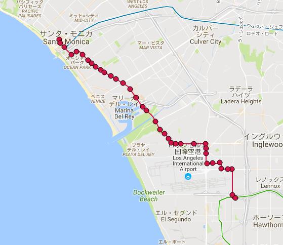 ロサンゼルス BlueBus Route3 路線図MAP