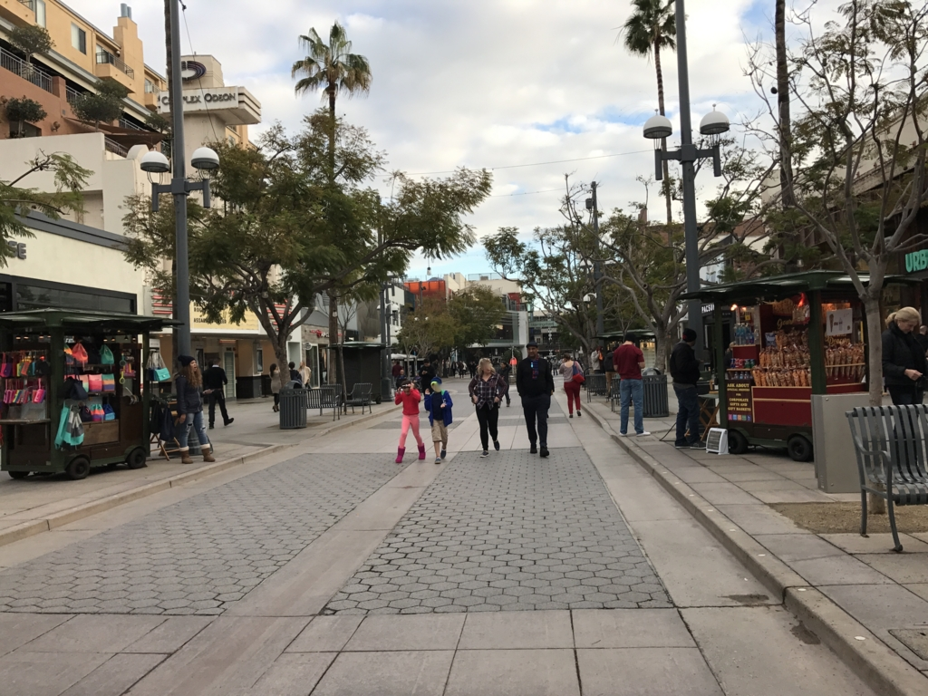 サンタモニカ 通りの模様