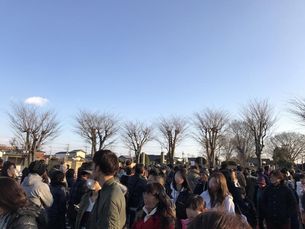 「佐野厄除け大師初詣」2017年1月3日 参拝の列