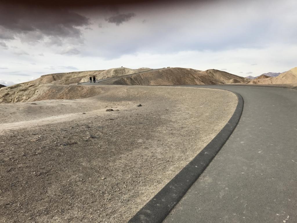 デスバレー国立公園 Dantes View 展望台へ