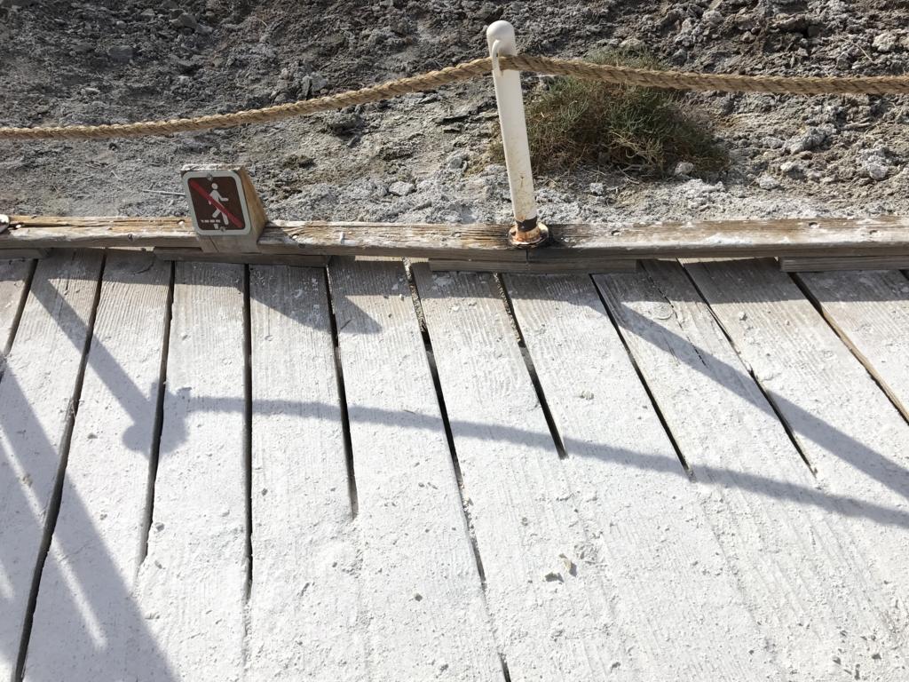 デスバレー国立公園 Bad Water 歩道は塩だらけ