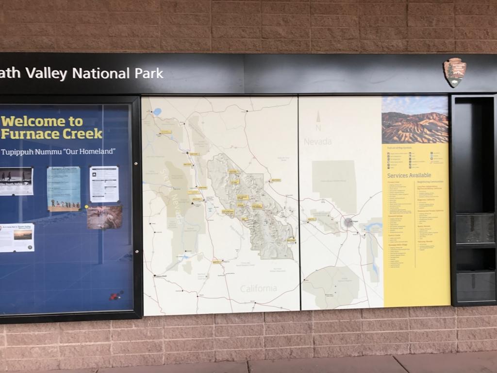 ビジタセンター デスバレー国立公園マップ