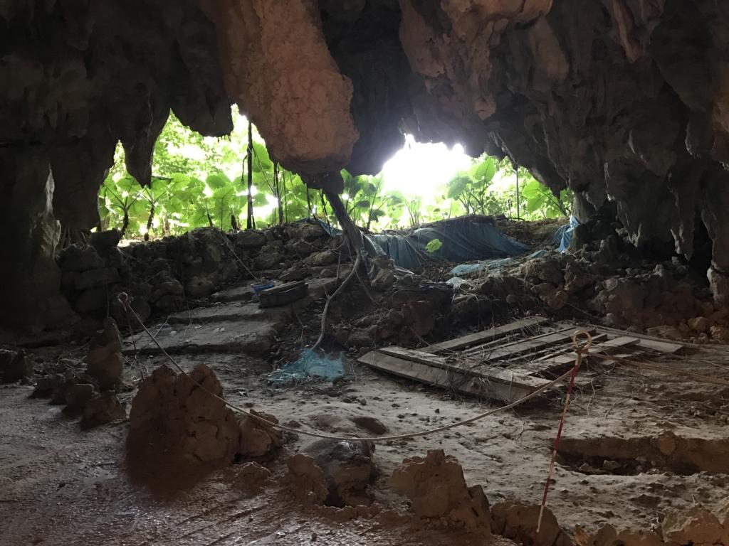 沖縄県「ガンガラーの谷」武芸洞 出口