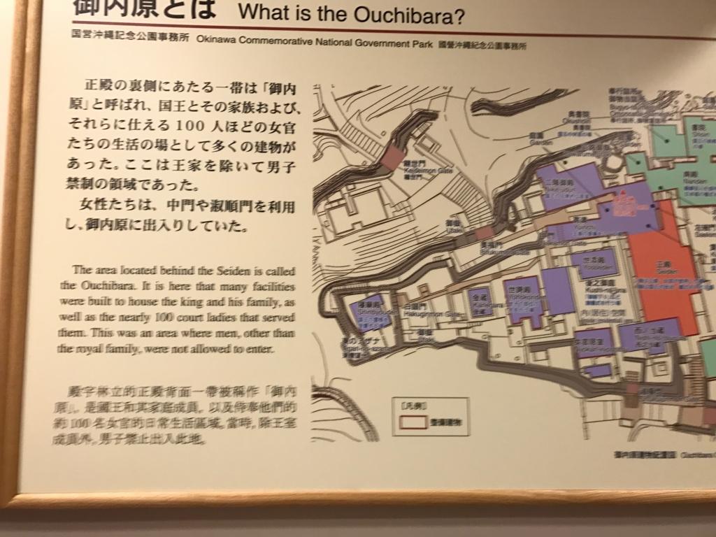 沖縄県 首里城公園  内炉之間「御内原」説明